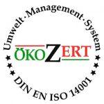 DIN EN ISO 14001 Qualitätssiegel