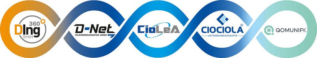 CioLeA arbeitet mit Ding360 D-Net Qomunify und Ciociola zusammen